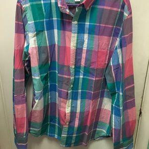 ☀️ SUMMER SALE ☀️ Plaid dress shirt.